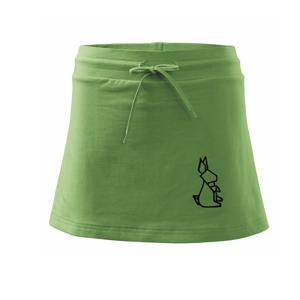Geometrire - zajac - Športová sukne - two in one
