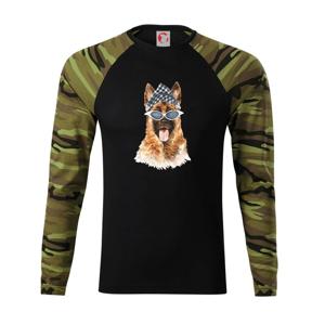 German shepherd so šatkou - Camouflage LS