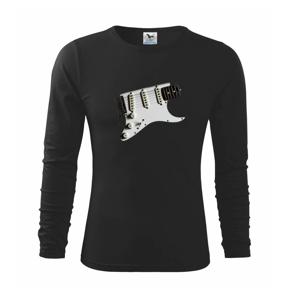 Gitara biela - Tričko detské Long Sleeve