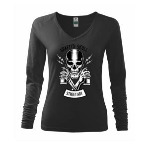 Graffiti Skull - Tričko dámske Elegance