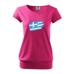 Grécko vlajka - Voľné tričko city