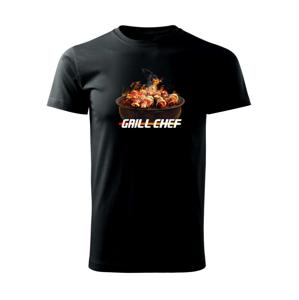 Grill chef - grill s ohňom - Tričko Basic Extra veľké