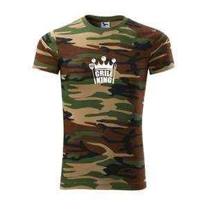 Grilovanie - Grill King - Army CAMOUFLAGE
