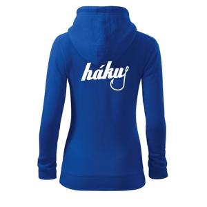 Hákuj - Mikina dámska trendy zipper s kapucňou