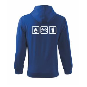 Hasiči 3 loga - Mikina s kapucňou na zips trendy zipper