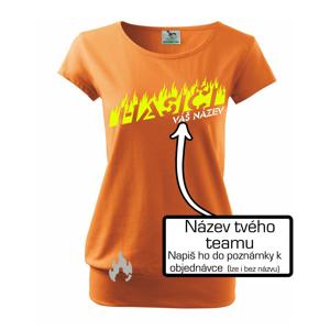 Hasiči - oheň - Váš názov - Voľné tričko city