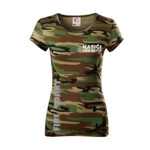 Hasiči REFLEXNÉ (oheň, Firesport, názov zboru - vlastný nápis) - Dámske maskáčové tričko