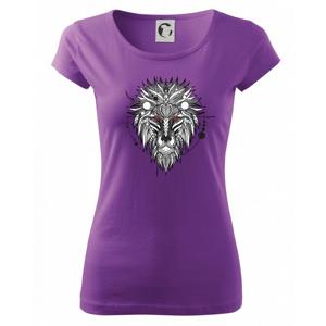 Hlava leva - geometrická - Pure dámske tričko
