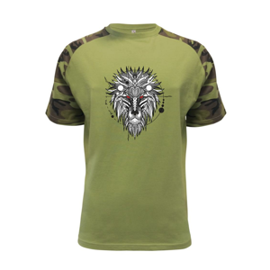 Hlava leva - geometrická - Raglan Military