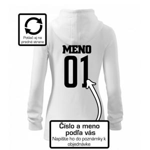 Hokejový dres - vlastné meno a číslo - Mikina dámska trendy zipper s kapucňou