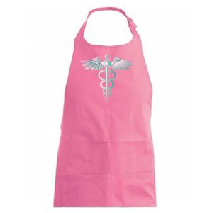 Hrdinovia zdravotníctva - logo (Pecka design) - Zástěra na vaření