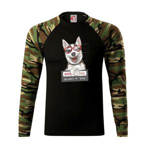 Husky - beware of dog - Camouflage LS