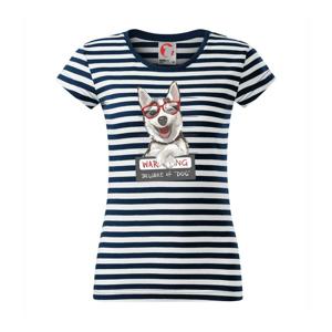Husky - beware of dog - Sailor dámske tričko
