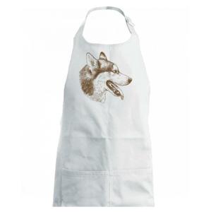 Husky - hlava z boku - Detská zástera na varenie