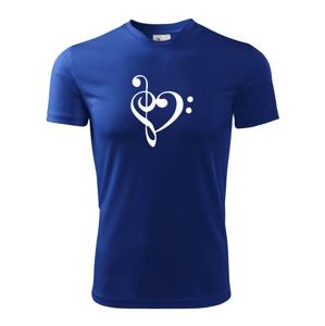 Husľový kľúč srdce - Pánske tričko Fantasy športové