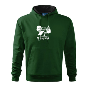 I don't need therapy camping - Mikina s kapucňou hooded sweater