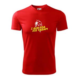 I Run for Ice Cream - Detské tričko fantasy športové tričko