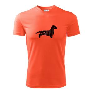 Jazvečík - Dachshund - Pánske tričko Fantasy športové