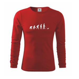 Jazvečík Evolúcia muž / žena - Tričko detské Long Sleeve