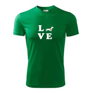Jazvečík - Love - Detské tričko fantasy športové tričko