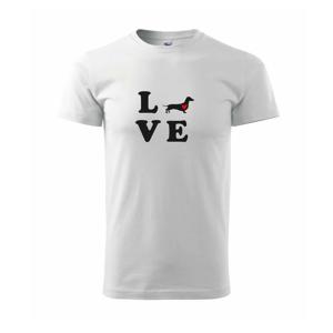 Jazvečík - Love - Tričko Basic Extra veľké