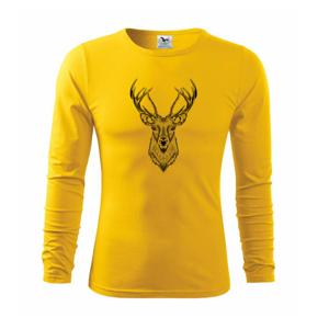 Jeleň kresba - Tričko s dlhým rukávom FIT-T long sleeve