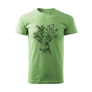 Jeleň ochranca prírody - Heavy new - tričko pánske