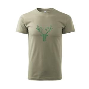 Jeleň vzorovaný - Tričko Basic Extra veľké