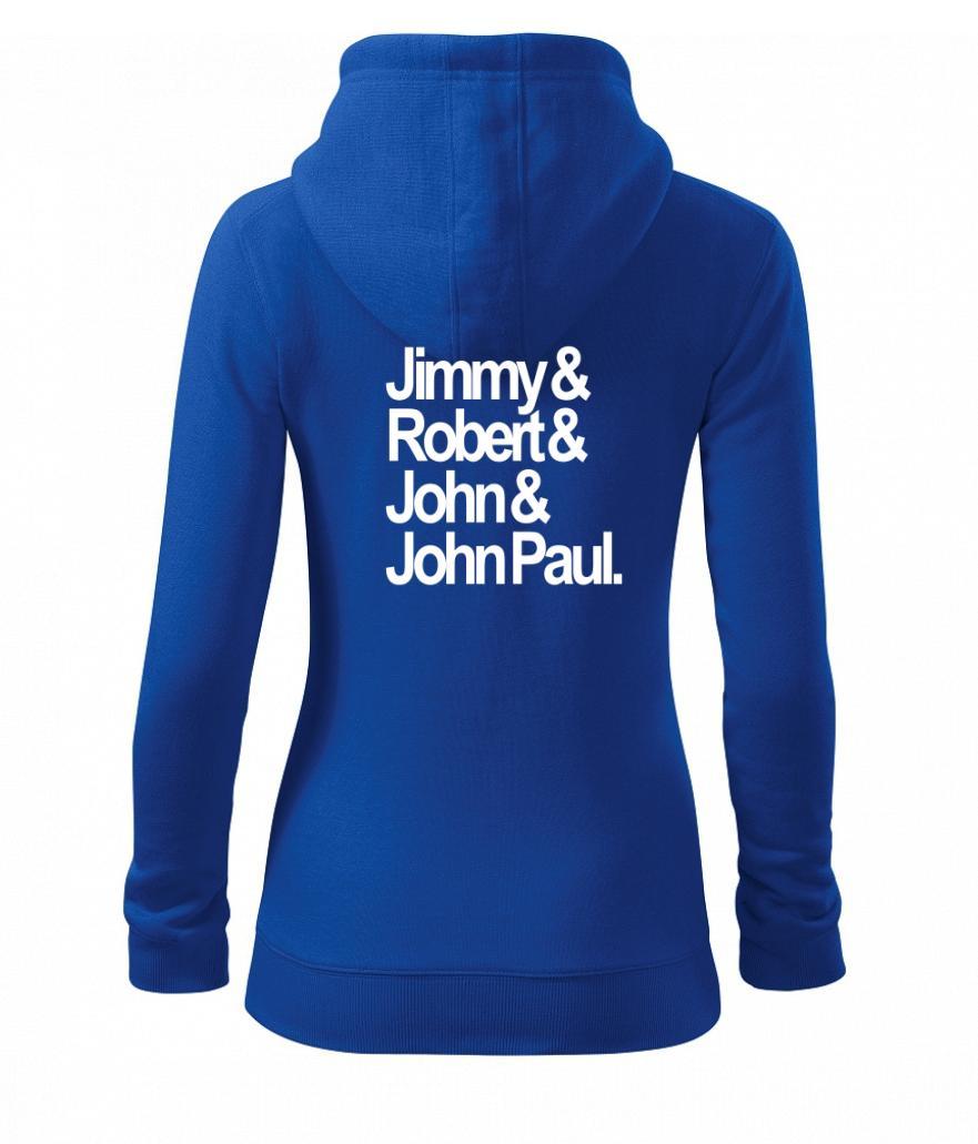 Jimy Robert John John Paul - Mikina dámska trendy zipper s kapucňou