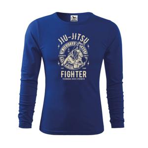 Jiu Jitsu logo guľaté - Tričko detské Long Sleeve