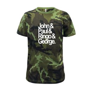 John Paul Ringo George - Detské maskáčové tričko