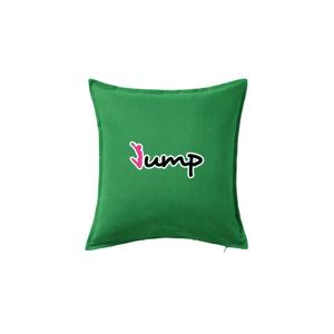 Jump - zápis a panáček - Vankúš 50x50
