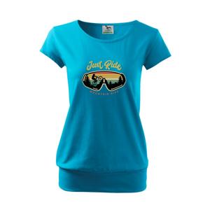 Just ride mountain bike - Voľné tričko city