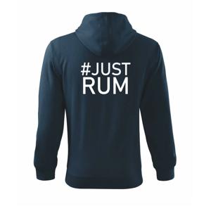 Just rum - Mikina s kapucňou na zips trendy zipper