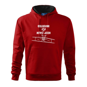 Keep Calm and Fly Inverted - Mikina s kapucňou hooded sweater