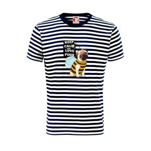 Keep calm and love pugs - Unisex tričko na vodu
