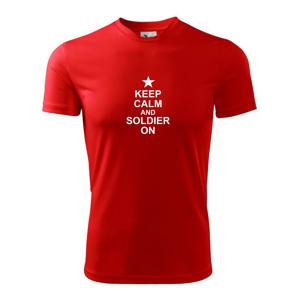 Keep calm and soldier on - Detské tričko fantasy športové tričko