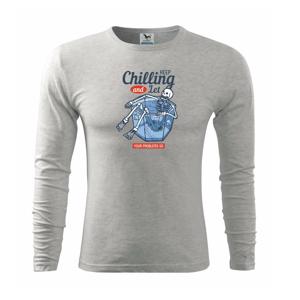 Keep chilling poháre - Tričko s dlhým rukávom FIT-T long sleeve