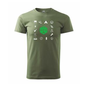Kempovanie symboly - Heavy new - tričko pánske