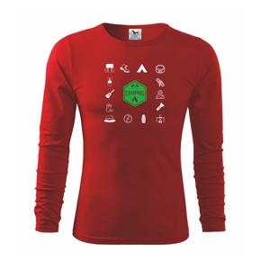 Kempovanie symboly - Tričko detské Long Sleeve