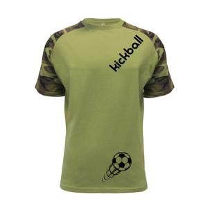 Kickball nápis šikmo - Raglan Military