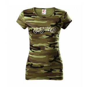 Kinetická energia kolo - Dámske maskáčové tričko