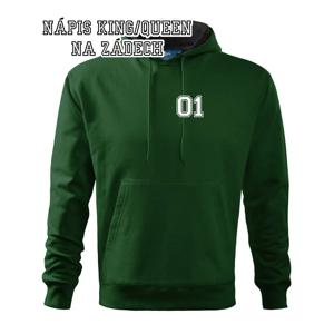 King - Queen - 01 dres (čiernobiela) - Mikina s kapucňou hooded sweater