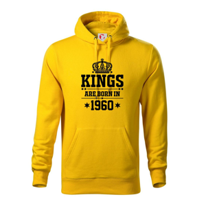 Kings are born in 1960 - Mikina s kapucňou hooded sweater
