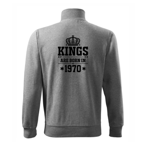Kings are born in 1970 - Mikina bez kapucne Adventure