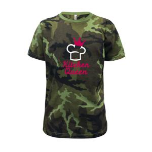 Kitchen Queen - Kuchárka - Detské maskáčové tričko