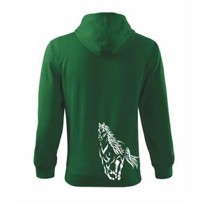 Kôň bežiaci  - Mikina s kapucňou na zips trendy zipper