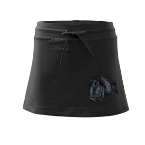 Kôň black - Športová sukne - two in one