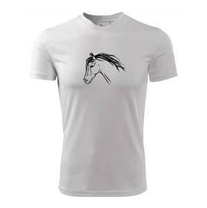 Kôň - hlava celá - Detské tričko fantasy športové tričko