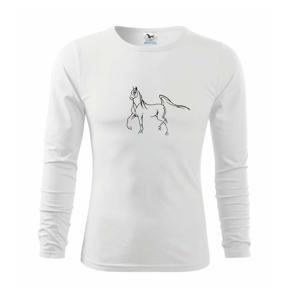 Kôň silueta - Tričko detské Long Sleeve